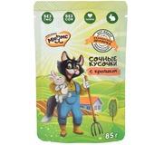 Мнямс сочные кусочки для кошек с кроликом «Фермерская ярмарка» линия Кот Федор 85г
