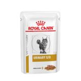 Royal Canin Urinary S/O, кусочки в соусе, ветеринарная диета для кошек при мочекаменной болезни струвиты, оксалаты, с курицей, 85 гр. х 12 шт.