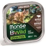 Monge Cat Bwild Grain free консервы из буйвола с овощами для кошек крупных пород 100г