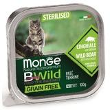 Monge Cat Bwild Grain free консервы из кабана с овощами для стерилизованных и домашних кошек 100г