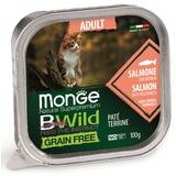 Monge Cat Bwild Grain free консервы из лосося с овощами для кошек 100г