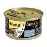 GimCat ShinyCat консервы для кошек из тунца с креветками 70 г