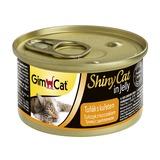 GimCat ShinyCat консервы для кошек из тунца с цыпленком 70 г