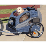 Solvit Products & PetSafe трейлер, велоприцеп для собак до 50 кг, Happy Ride™ Aluminum Dog Bicycle Trailer
