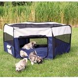 Trixie тканевый вольер с дном и сетчатым верхом для щенков и мелких домашних животных