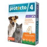 Neoterica Protecto Капли на холку для кошек и собак 4-10 кг, от клещей, блох и их личинок, комаров, 2 шт. в уп. (Неотерика Протекто)