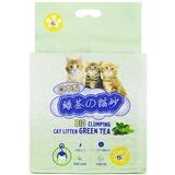 HAKASE AREKKUSU комкующийся растительный наполнитель Зеленый чай, 6 л