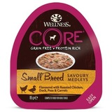 Welness Core SMALL BREED консервы из курицы с уткой, горошком и морковью для собак мелких пород