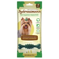 Зубочистики Мятные косточки с хлорофиллом для собак мелких пород до 10 кг, 7шт х 60г