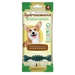 Зубочистики Мятные косточки с хлорофиллом для собак средних пород 10-25кг, 4шт х 70г