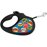 "Collar Поводок-рулетка WAUDOG Design с рисунком ""ВАУ"", размер L, до 50 кг, 5 м"