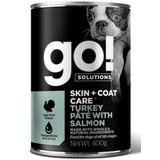 GO! NATURAL Holistic консервы с индейкой и лососем для собак всех возрастов, GO! Skin + Coat Turkey Pate with Salmon DF