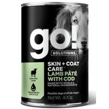 GO! NATURAL Holistic консервы с ягненком и треской для собак всех возрастов, GO! Skin + Coat Lamb Pate with Cod DF