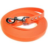 R-Dog Поводок из биотана, стальной карабин, оранжевый неон