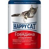 Happy Cat Говядина и баранина - полноценный корм для взрослых кошек всех пород и возрастов