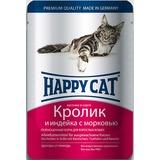 Happy Cat Кролик и индейка - полноценный корм для взрослых кошек всех пород и возрастов