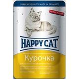 Happy Cat Ломтики курочки - полноценный корм для взрослых кошек всех пород и возрастов