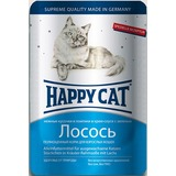 Happy Cat Ломтики лосося - полноценный корм для взрослых кошек всех пород и возрастов