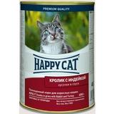 Happy Cat Кролик с индейкой - полноценный корм для взрослых кошек всех пород и возрастов