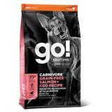 GO! Natural holistic беззерновой сухой корм для собак всех возрастов c лососем и треской, GO! CARNIVORE GF