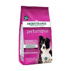 Arden Grange Performance сухой корм для взрослых активных собак – rich in chicken & rice курица и рис