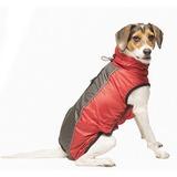 Dog Gone Smart светоотражающий дождевик с флисовой подкладкой Hexagon jacket, цвет красный чили