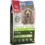 Blitz Holistic СВЕЖАЯ УТКА — низкозерновой сухой корм для взрослых собак всех пород Holistic Fresh Duck Adult Dog All Breeds (Low Grain)