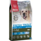 Blitz Holistic СВЕЖАЯ ФОРЕЛЬ — низкозерновой сухой корм для взрослых собак всех пород Holistic Fresh Trout Adult Dog All Breeds (Low Grain)