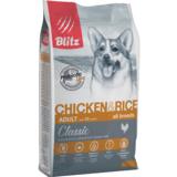 Blitz: сухой корм для собак всех пород с курицей и рисом Classic Chicken & Rice Adult Dog All Breeds