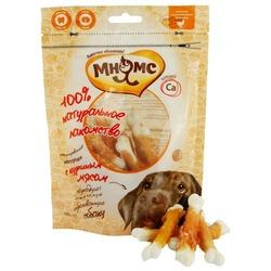 Мнямс лакомство для собак кальцинированные косточки с куриным мясом, 100 гр