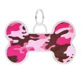 """Tappi адресник """"Талита"""", нержавеющая сталь (надпись ручкой/маркером), цвет розовый, с рисунком """"камуфляж"""""""