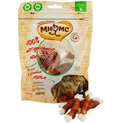 Мнямс лакомство для собак кальцинированные косточки с утиным мясом, 100 гр