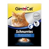 Gimcat Лакомые сердечки с лососем и таурином Schnurries