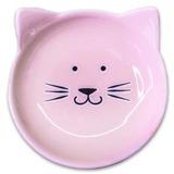 КерамикАрт блюдце керамическое Мордочка кошки 80 мл, розовая