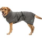 Trixie банный халат из микрофибры для собак, цвет серый
