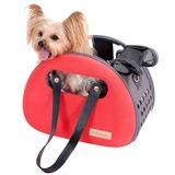 Ibiyaya складная сумка-переноска для кошек и собак The Bubble Hotel Semi-transparent Pet Carrier – Scarlet Red