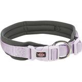 Trixie ошейник широкий с неопреновой подкладкой Premium, цвет лиловый/графит