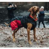 Hunter утепленная куртка для собак Uppsala Extreme- для самой холодной погоды, антрацит/красный