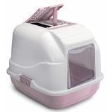 IMAC био-туалет для кошек EASY CAT 50х40х40h см, нежно-розовый