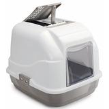 IMAC био-туалет для кошек EASY CAT 50х40х40h см, серо-бежевый