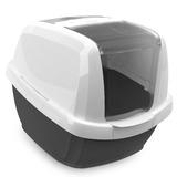 IMAC био-туалет для кошек MADDY 62х49,5х47,5h см, белый/антрацит