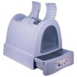 IMAC био-туалет для кошек ZUMA 40х56х42,5h см, пепельно-голубой