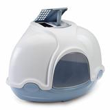 IMAC био-туалет для кошек угловой GINGER 52х52х44,5h см, голубой