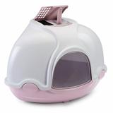IMAC био-туалет для кошек угловой GINGER 52х52х44,5h см, темно-розовый