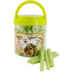 Мнямс лакомство для собак крученые зубные палочки с зелёным чаем, 340 гр