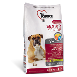 1st Choice Senior для пожилых собак с чувствительной кожей и для шерсти с ягненком, рыбой и рисом