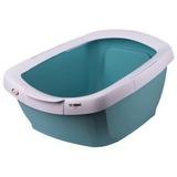 IMAC туалет-лоток для кошек FUNNY с высокими бортами 62х49,5х33h см, пастельно голубой