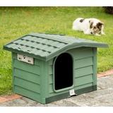 BAMA PET будка для собак BUNGALOW L, пластик, зеленая