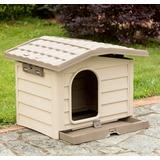 BAMA PET будка для собак BUNGALOW M, пластик, бежевая