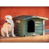 BAMA PET будка для собак BUNGALOW M, пластик, зеленая